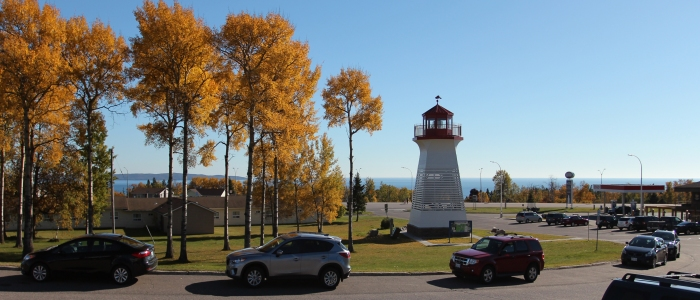Terrace Bay Lighthouse in Fall