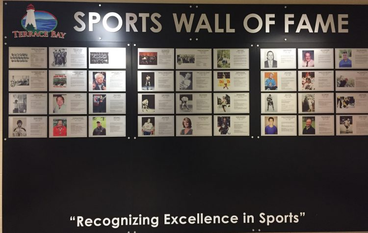 sports wall of fame township of terrace bay. Black Bedroom Furniture Sets. Home Design Ideas